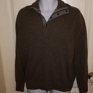 Banana Republic Snap/Zip V-neck Sweater Tall Large